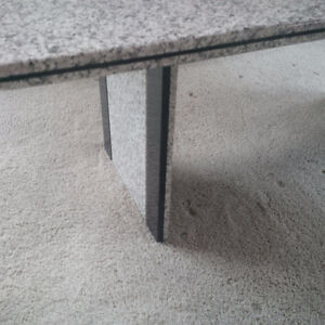 Solid Granite Dining Table - Grey / White / Black Speckled Strathcona County Edmonton Area image 1