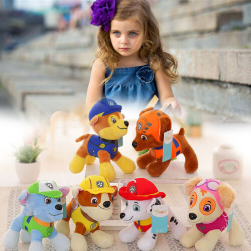 6Pcs  COMPLETE SET of 6 Cute Dogs plush Doll Dog Toy Zuma 12CM.