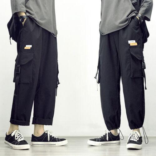 Men Casual Cargo Pants Urban Trousers Streetwear Joggers Sweatpants Combat Sport