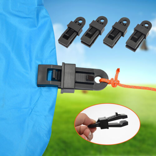 10Pcs Tarp Clips Clamp Awning Set Car Boat Cover Tent Tie Do