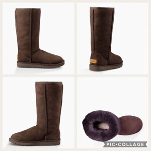 UGG tall chocolate-coloured boots