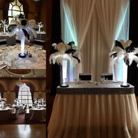 CENTERPIECE RENTAL•GLASS VASES•MERCURY GLASS•OSTRICH FEATHERS•