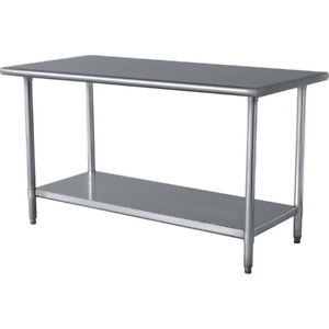 $80 COMMERCIAL KITCHEN STAINLESS STEEL WORK TABLE