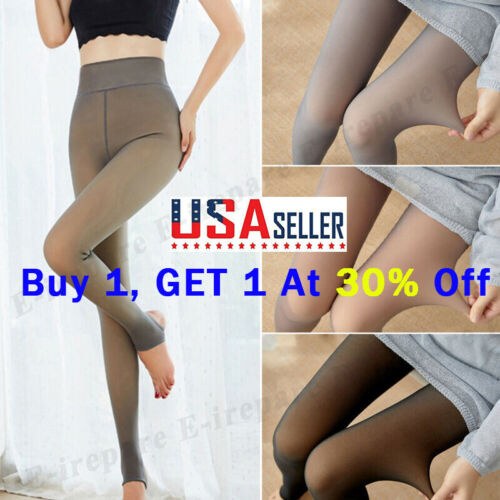 Flawless Legs Fake Translucent Warm Fleece Pantyhose Tights Stockings 30% OFF US