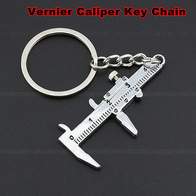 New Vernier Caliper Pendant Keychain Keys Holder Car Keyring Men's Birthday Gift