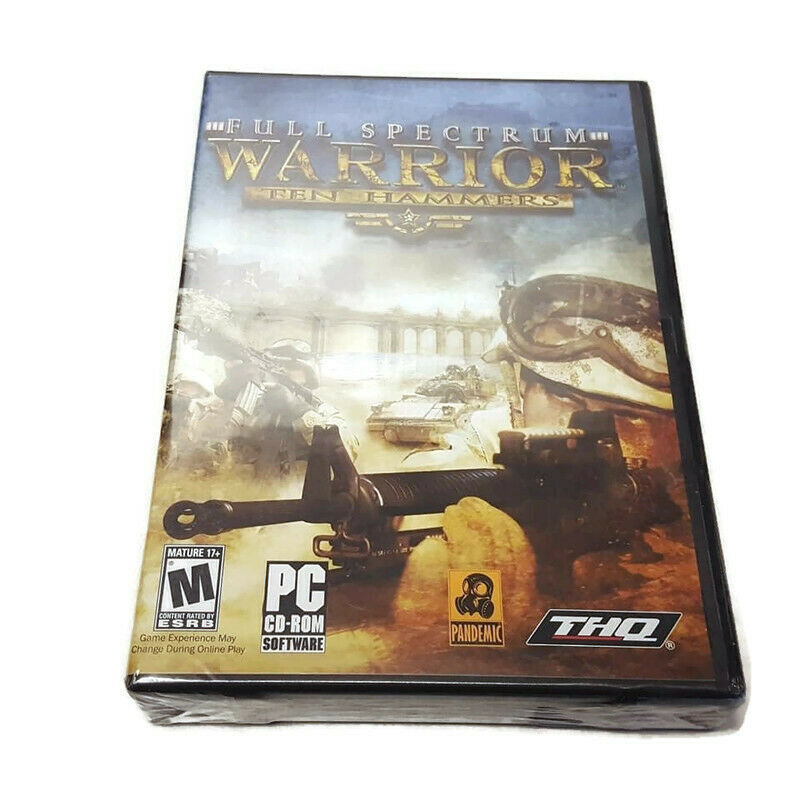 Full Spectrum Warrior Ten Hammers PC CD-ROM Complete NEW Sealed Free S/H