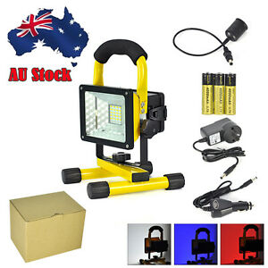 Portable Rechargeable 30W 24 LED Flood Light Outdoor Camping Spot Work USB Lamp