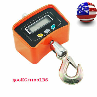 Portable Digital Crane Scale 500kg1100lbs Heavy Duty Industrial Hanging Scalece