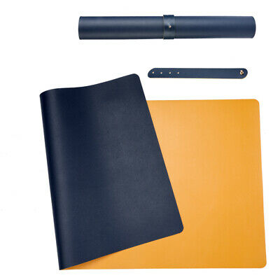 2 Colors Dual Sided Leather Desk Pad Mat Desk Blotter Protector 31.5x15.7 Inch