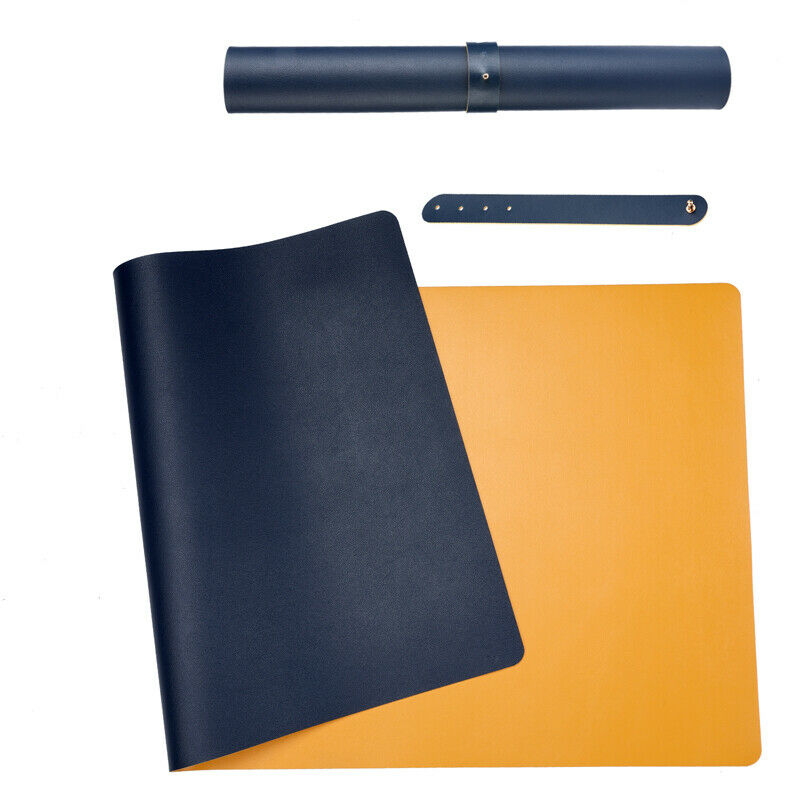 Leather Desk Pad Mat 2 Colors Dual Sided Desk Blotter Protector 31.5