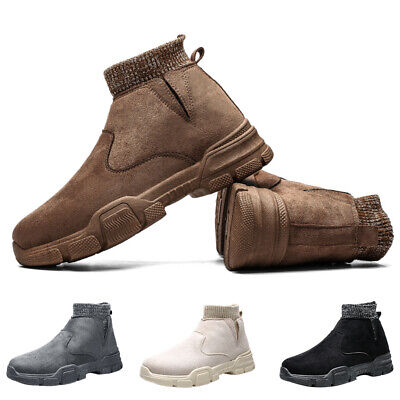 5 Pairs Mens Warm Snow Casual Boots Winter Outdoor Fur-lined Ankle Hiking Shoes