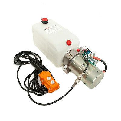 12 Volt Hydraulic Pump for Dump Trailer  - 6 Quart Poly - Single Acting