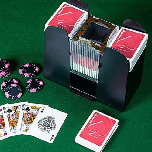 Poker Card Automatic Card Shuffler Electric Board Game Cards Shuffler Six Decks