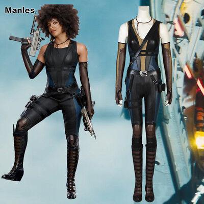Deadpool 2 Neena Thurman Cosplay Domino Women Costume Halloween Fancy Dress