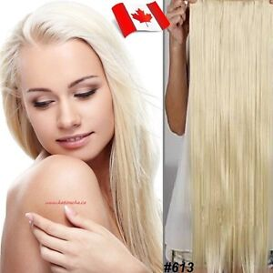 """Clip in hair extension,Straight hair,60 cm, 24"""", Color #613"""