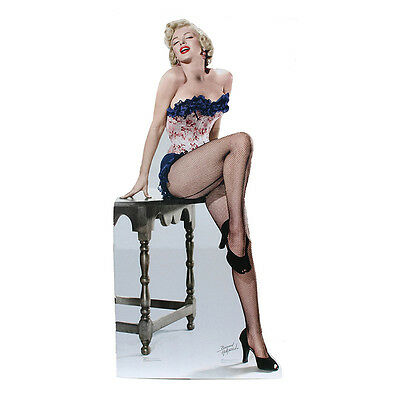 MARILYN MONROE IN FISHNET STOCKINGS Lifesize CARDBOARD CUTOUT Standup (Marilyn Monroe Stockings)