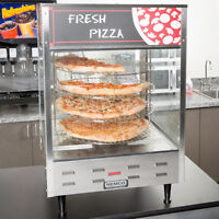 "Single Door Rotating 4-Tier Pizza Merchandiser w/ 18"" Racks 120V"