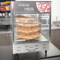 """Single Door Rotating 4-Tier Pizza Merchandiser w/ 18"""" Racks 120V"""