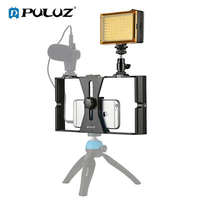 PULUZ Vlogging Smartphone Video Rig Kit Handheld Grip Stabilizer with LED Light