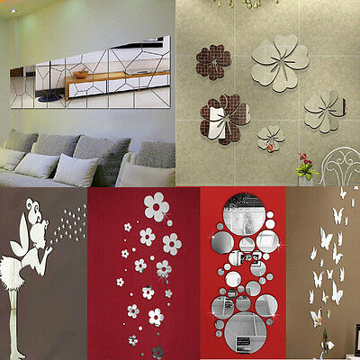 - Removable Mirror Decal Art Mural Wall Stickers Home Decor DIY Room Decoration
