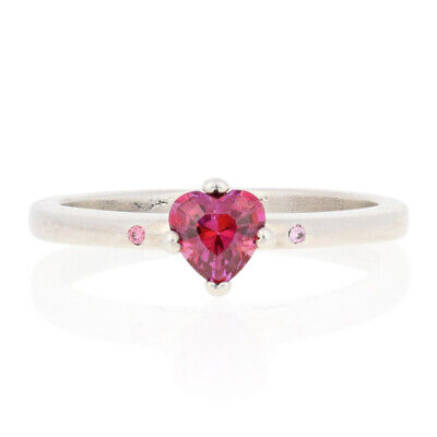 NEW Authentic Pandora You & Me Ring - Sterling Pink Heart 56 (7.5) 196574CZRMX