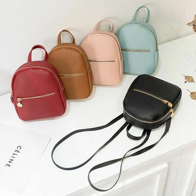 Women Girls Mini Backpack Faux Leather Cute School Bag Travel Handbag Tiny Bag Leather Mini Backpack Handbag