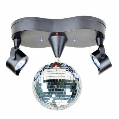 X4-LIFE LED Spiegelkugel mit Doppelstrahler Party  Disco Kugel mit Beleuchtung