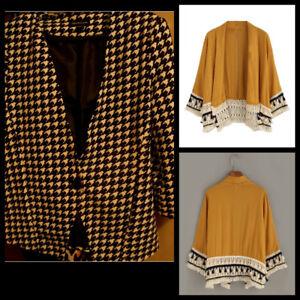 Mustard Colour Kimono and Black/white Blazer