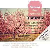 Spring pop up shop!! Ladies clothing,jewelry, crafts, coffee:)