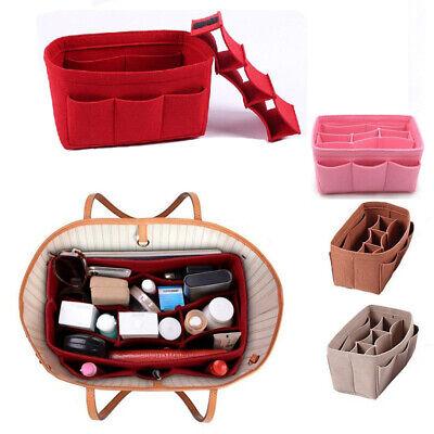 Rosa Tasche Organizer (Damen Abnehmbare Handtasche Large Organizer Einfügen Cosmetic Bag DE)