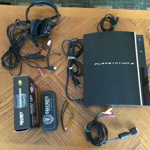 Playstation 3 with 3Games and Turtle Beach Headset & Glasses London Ontario image 5