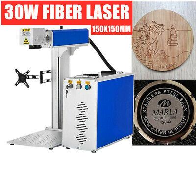 30w Laser Focus Jpt Laser Marker Fiber Laser Machine 150mm 80mm Rotary Us Stock