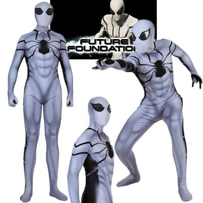 Spider Man Future Foundation Suit Costume Spiderman Halloween Cosplay Bodysuit