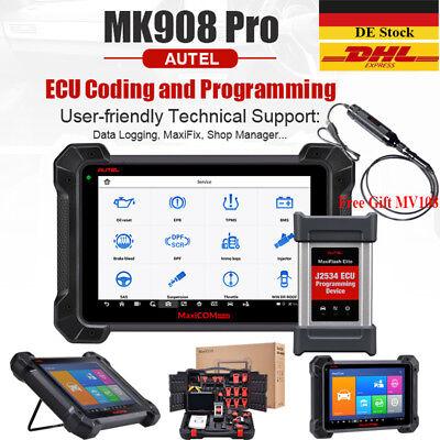 Autel MK908P MaxiSys Pro MS908P OBD2 Escaner Diagnosis J2534 ECU Lectore Código