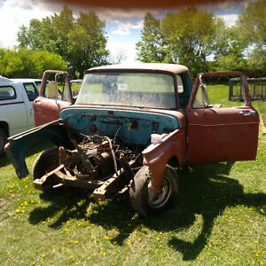 1961 Mercury M F 100 Cab Doors Glass Grill