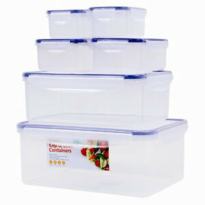 tupperware kitchen storage containers set of 6 kitchen food storage tupperware container plastic 6393