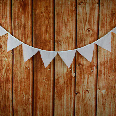 White Cotton Lace Flag Banner Bunting Pennant For Wedding Birthday Party Decor - Decoration Material For Birthday