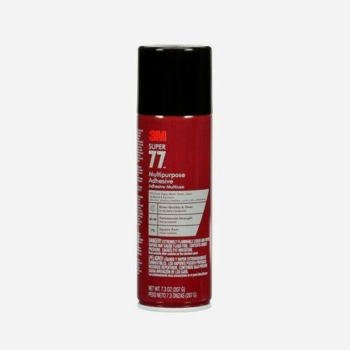 3M SUPER 77 Multi-Purpose Adhesive Spray 7.3 oz. Commercial Strength 77-10 NEW