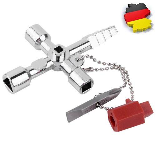 DE Universalschlüssel Vierkantschlüssel Dreikantschlüssel Schaltschrankschlüssel