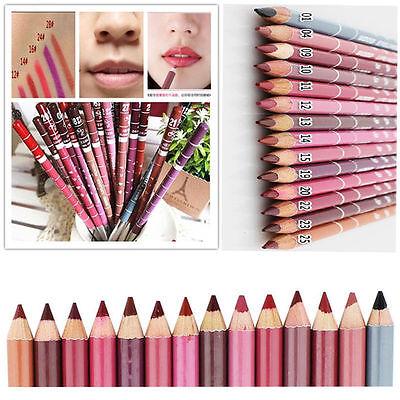 12PCS Lot 12 Colors Professional Lipliner Waterproof Lip Liner Pencil Makeup Set