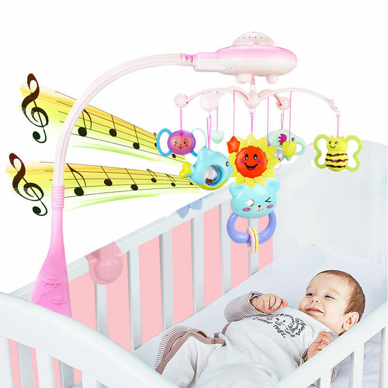 Baby Musical Crib Mobile Bed Bell Toys Newborn Infant Flashi