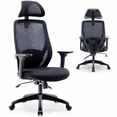 Ergonomic High Back Mesh Office Chair Adjustable Swivel Pc Executive Home Desk