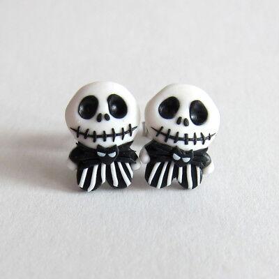 Skull Jack The Skeleton Nightmare Before Christmas Gifts Ideas Earrings Jewelry - Christmas Jewelry Ideas
