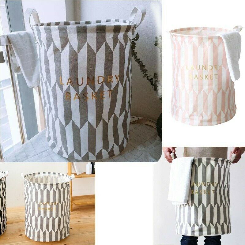 Laundry Hamper Clothes Basket Cotton Waterproof Washing Bag