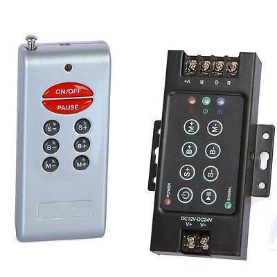 12-24V RGB LED Light Control RF Wireless WiFi Remote Controller Dimmer 8 Key