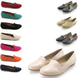 LADIES-SUEDE-FLAT-SLIPPERS-WOMENS-LOAFERS-SLIP-ON-PUMPS-FLAT-SHOES-SIZE-3-8