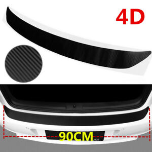 1PC Accessories Carbon Fiber Car Rear Guard Bumper 4D Sticker Panel Protector