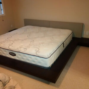 Modloft Worth Platform Bed w/Mattress - King Size - RARE FIND Kitchener / Waterloo Kitchener Area image 4