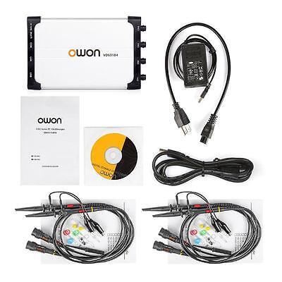 Owon Vds3104l 100 Mhz 4 Ch 1 Gss Usb Pc Handheld Portable Oscilloscope Usa