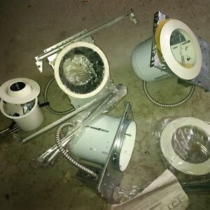 Pot lights (3 the same size and 1 smaller one)